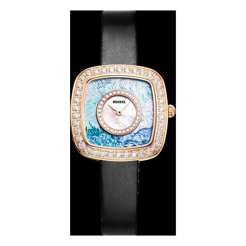 BEGEEL宾爵3D油画女士石英腕表
