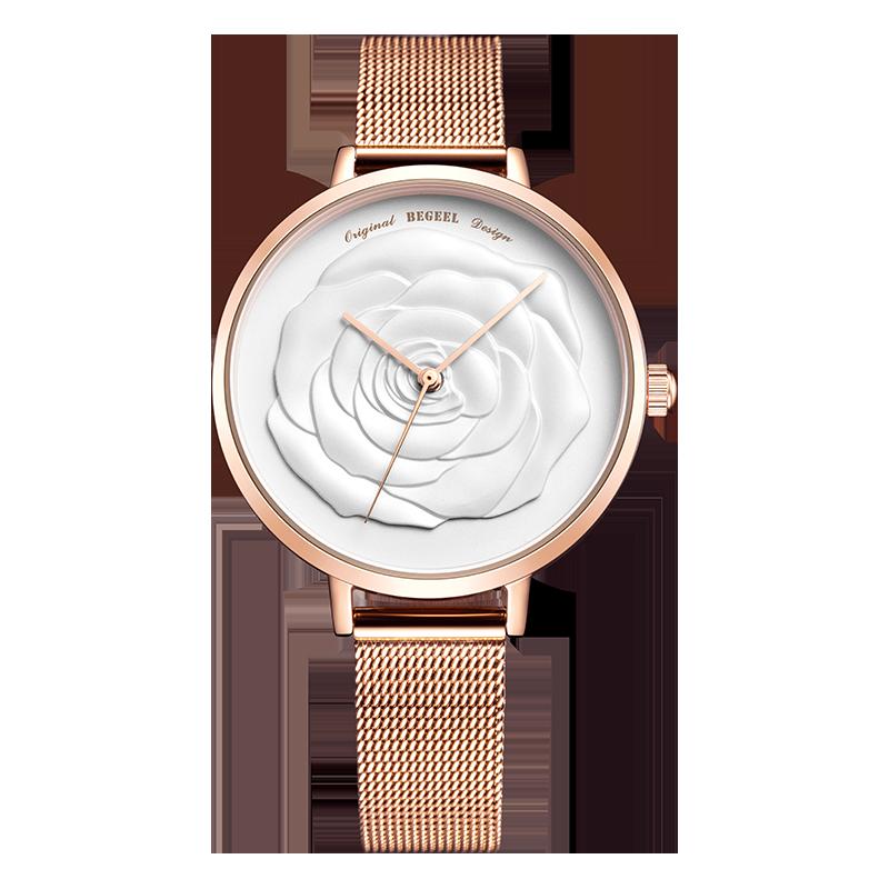 BEGEEL宾爵小蔷薇女士石英腕表