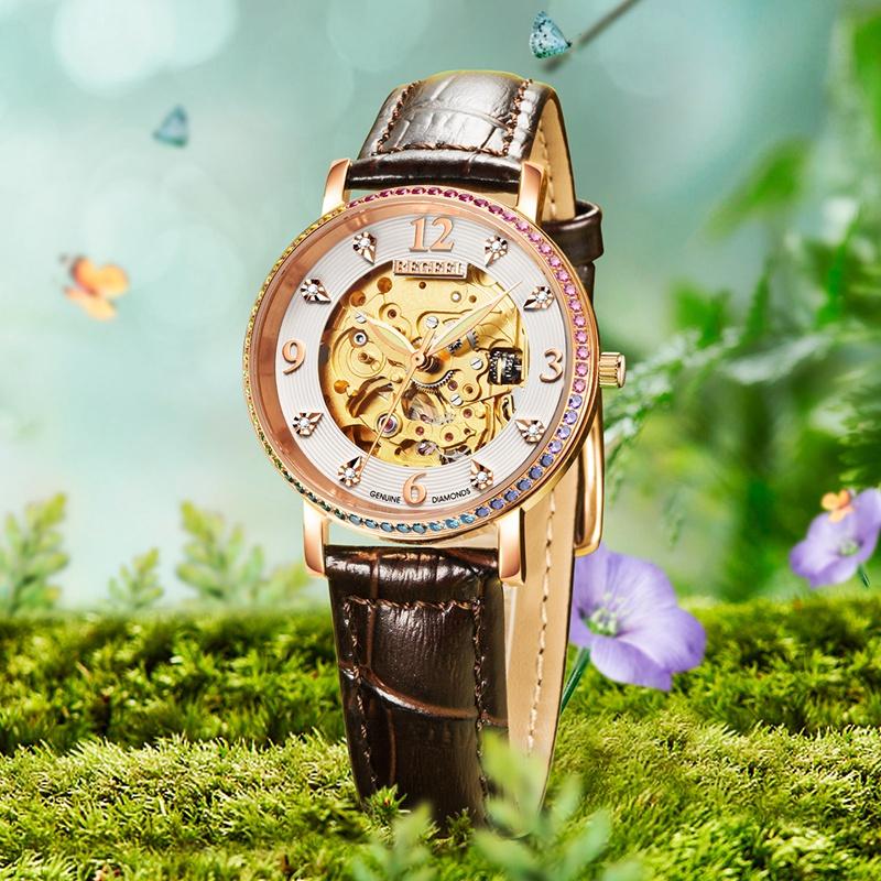 女士手表佩戴松紧度图片,女士钢带手表最合适的松紧度