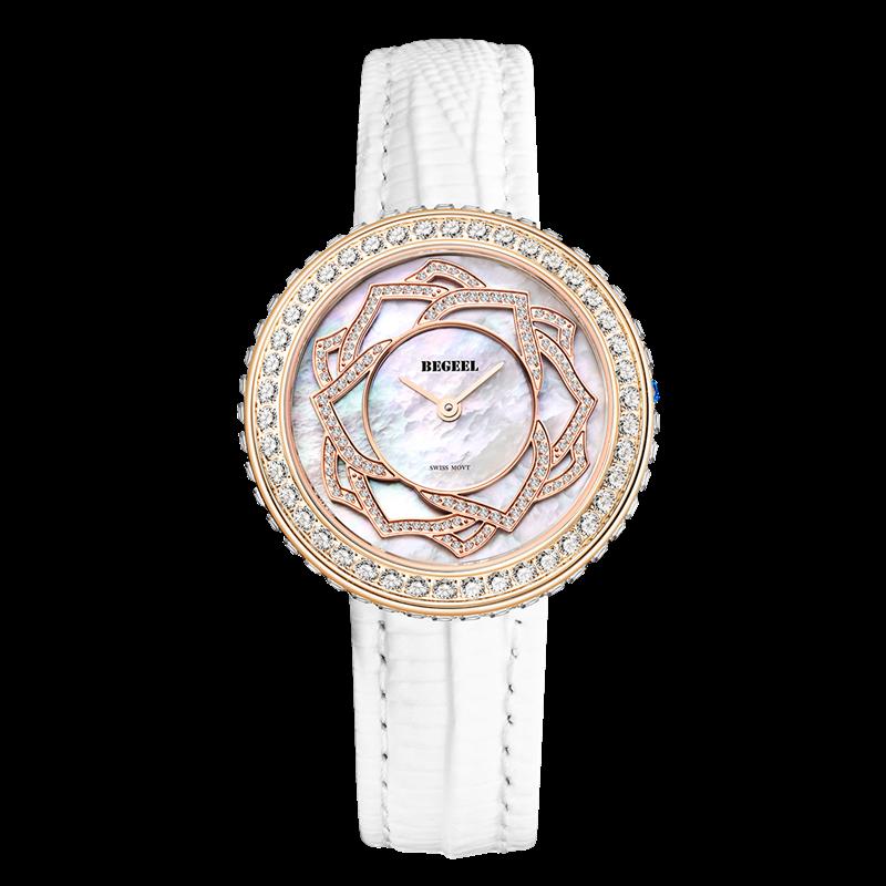 BEGEEL宾爵白玫瑰女士腕表