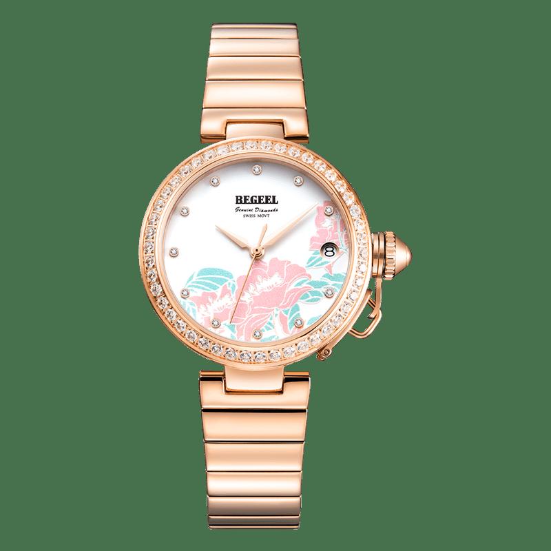 BEGEEL宾爵秘密花园女士石英腕表