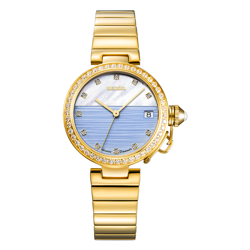 BEGEEL爱琴海女士真钻石英腕表